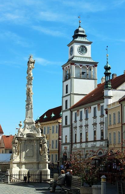 Město Třeboň náměstí
